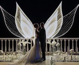 wedding, couple, and bride image