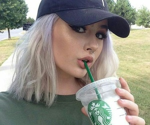 girl, starbucks, and tumblr image