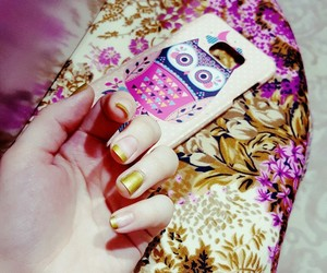 case, pink, and gold image