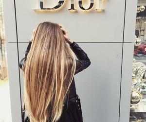 dior, girl, and hair image