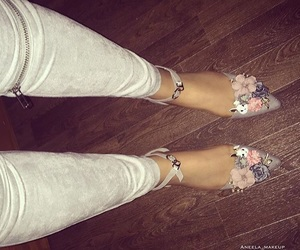 beige, floral, and high image