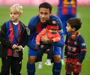Barca, kids, and neymar image