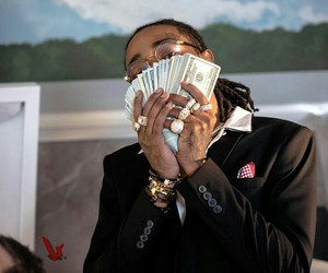 migos, quavo, and money image