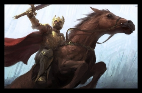 helmet, horse, and knight image