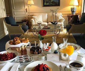 food, breakfast, and interior image