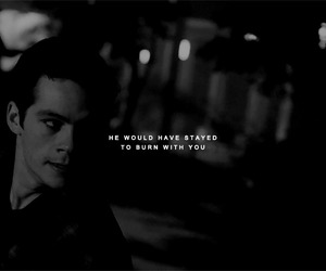 black and white, teen wolf, and dylan o'brien image