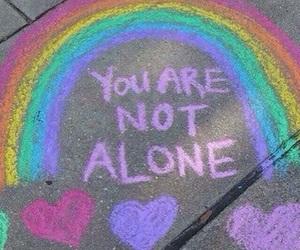 rainbow, alone, and grunge image