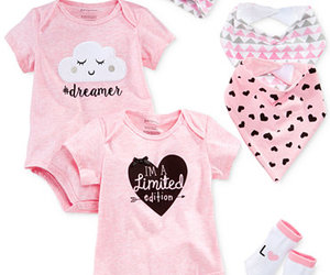 baby clothes, baby girl, and moon image