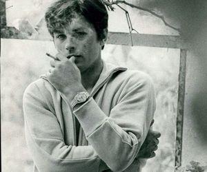 Alain Delon, black and white, and cinema image