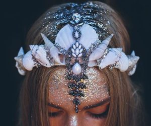 mermaid, mermaid crown, and crown image