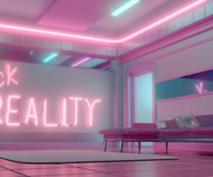 pink, neon, and aesthetic image