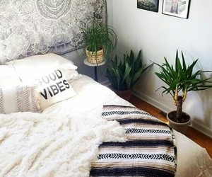 bedroom, home, and plants image