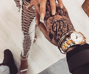 couple, tattoo, and inked image