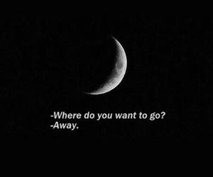 moon, dark, and sad image