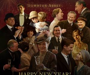 tv, downton abbey, and new year image