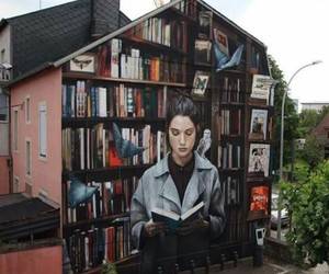 street art, books, and art image