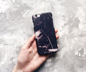 iphone cover, iphone case, and black marble image