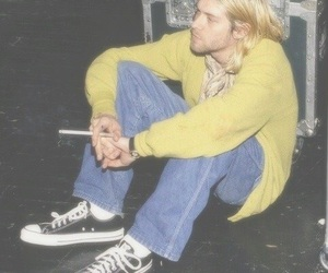 nirvana, kurt cobain, and grunge image