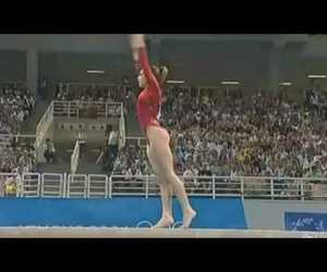 gymnastics, artistic gymnastics, and sports image