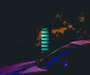 car, dark, and colorful image
