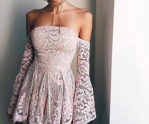 dress, fashion, and pink image