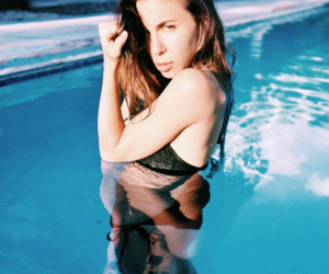 beautiful, girl, and pool image