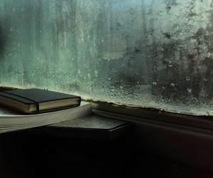 book, rain, and love image