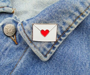 aesthetic, heart, and pin image