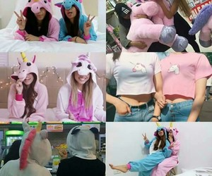 unicorn, friends, and pink image