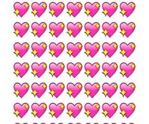 wallpaper, emoji, and heart image