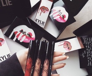 lipstick, makeup, and kylie jenner image