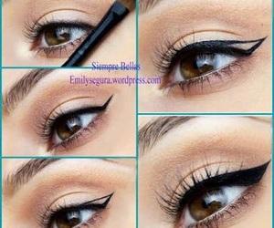 eyeliner, eye, and make up image