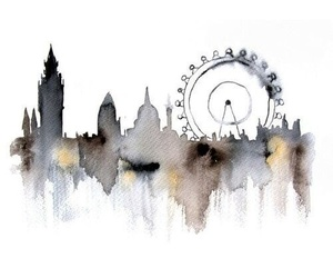 london and watercolor image