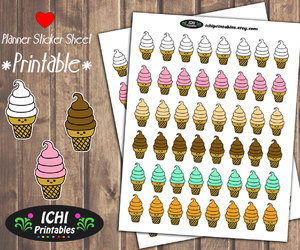 etsy, cute ice cream, and life planner image