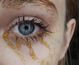 glitter, blue, and eyes image