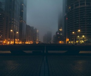 chicago, city, and dark image