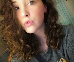 brown, curly hair, and medium length image