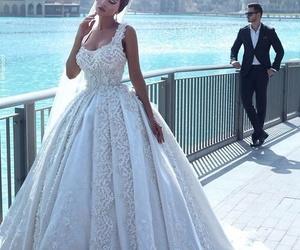 wedding, bride, and dress image
