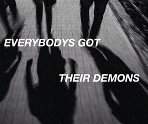 demons, jet black heart, and quote image