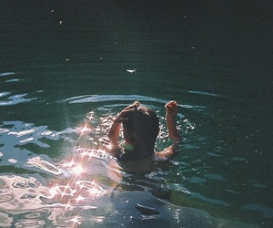 water, girl, and vintage image