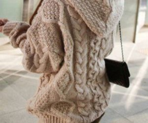 cardigan, sweater, and cable sweater image