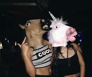 girl, unicorn, and party image