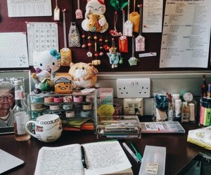 bedroom, office, and studying image