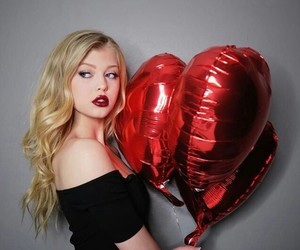 heart, red, and loren image