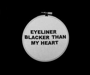 eyeliner and black image