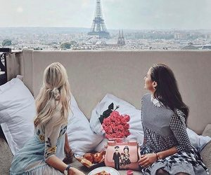 paris, fashion, and breakfast image
