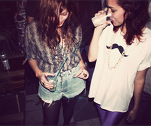 girl, party, and mustache image