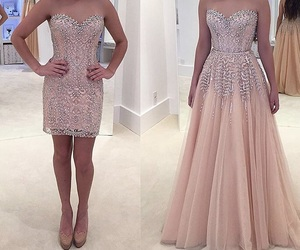 Prom, nude dress, and formatura image