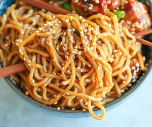 food, Chicken, and noodles image