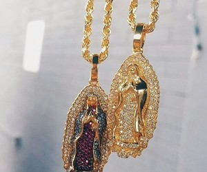 jewelry, gold, and Catholic image